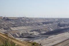 Bruinkool - Bovengrondse mijnbouw Garzweiler Duitsland Royalty-vrije Stock Foto