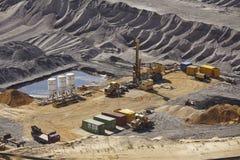 Bruinkool - Bovengrondse mijnbouw Garzweiler Duitsland Royalty-vrije Stock Afbeelding
