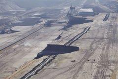 Bruinkool - Bovengrondse mijnbouw Garzweiler Duitsland royalty-vrije stock afbeeldingen