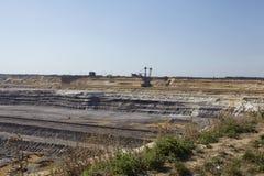 Bruinkool - Bovengrondse mijnbouw Garzweiler Duitsland royalty-vrije stock fotografie