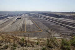 Bruinkool - Bovengrondse mijnbouw Garzweiler Duitsland stock afbeelding