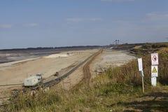 Bruinkool - Bovengrondse mijnbouw Inden Stock Foto