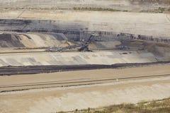 Bruinkool - Bovengrondse mijnbouw Inden Royalty-vrije Stock Fotografie