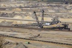 Bruinkool - Emmergraafwerktuig bij bovengrondse mijnbouw Inden Royalty-vrije Stock Foto's