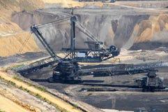 Bruinkool open mijnbouw Royalty-vrije Stock Foto's