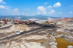 Bruinkoolmijn Stock Foto's