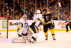 Bruins beat Marc-Andre Fleury Royalty Free Stock Photo