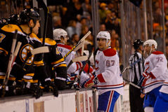 Bruins/Canadiens Rivalry NHL Hockey royalty free stock images