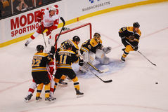 Bruins on defense. Royalty Free Stock Photography