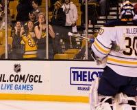 Bruins fans salute Ryan Miller Royalty Free Stock Image