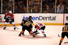 Bruins-Flyers Faceoff Royalty Free Stock Images