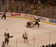 Bruins ice hockey goal Royalty Free Stock Images
