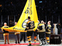 Bruins raise the Stanley Cup Banner Stock Photography