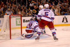 Bruins score against the Rangers Stock Photo