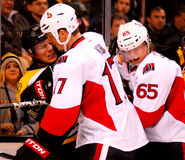 Bruins and Senators (NHL Hockey) Stock Photography