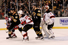 Bruins v. Devils ice hockey Stock Photography