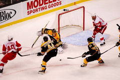 Bruins v. Red Wings NHL hockey Stock Image