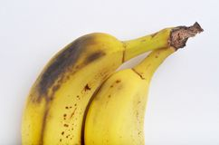 Bruised banana Stock Photo