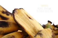 Bruised Banana on white background. Stock Photography