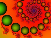 Bruisende fractal Stock Foto's