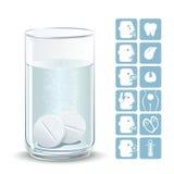 Bruisende tabletten Stock Afbeelding