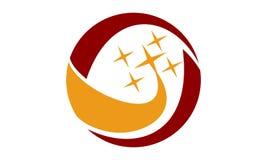 Bruissement Logo Design Template d'étoile Images libres de droits