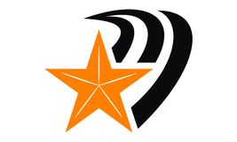 Bruissement Logo Design Template d'étoile Photo stock