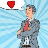 Bruit Art Confident Businessman dans l'amour illustration de vecteur