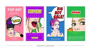 Bruit Art Hot Sale Vertical Banners illustration libre de droits