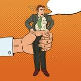 Bruit Art Office Worker de compressions de grande main d'employeur illustration libre de droits