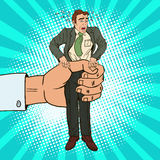 Bruit Art Office Worker de compressions de grande main d'employeur illustration stock