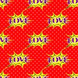 Bruit Art Pattern avec le ` d'amour de ` de lettrage Images stock