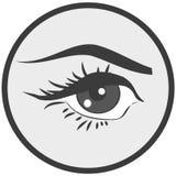 Bruit Art Pin Up Eye Icon Photo stock