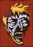Bruit Art Poster avec le visage de zombi, illustration de vecteur Photographie stock