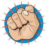 Bruit Art Punching Fist Sign de vintage illustration de vecteur