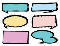 Bruit Art Style Speech Bubble Set Image libre de droits