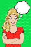 Bruit Art Vector de jeune femme de sourire gaie illustration de vecteur