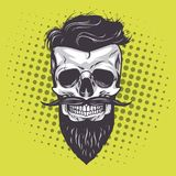 Bruit Art Vector Illustration de crâne de hippie Images stock