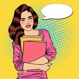 Bruit assez jeune Art Student Girl Holding Books illustration libre de droits