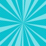 Bruit bleu Art Retro Background avec des rayons de soleil Image libre de droits