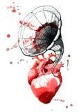 Bruit cardiaque illustration stock