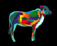 Bruit coloré Art Cartoon Poster Graphic de Buffalo Photo libre de droits
