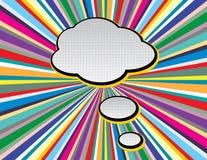 Bruit comique Art Style de bulle de la parole des textes sur le fond de rayons de style de TV Les r?tros bulles vides comiques de illustration libre de droits