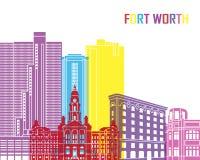 Bruit d'horizon de Fort Worth illustration de vecteur