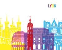 Bruit d'horizon de Lyon Image libre de droits