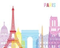 Bruit d'horizon de Paris illustration libre de droits
