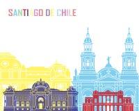 Bruit d'horizon de Santiago de Chile V2 illustration de vecteur