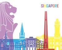 Bruit d'horizon de Singapour illustration libre de droits