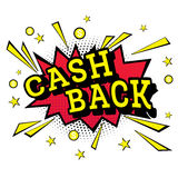 Bruit d'isolement Art Emblem Cash Back Photographie stock