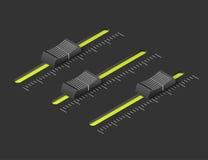 Bruit 3d réaliste ajustant l'égaliseur d'appareil d'enregistrement Photographie stock libre de droits